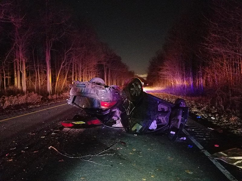 12-4-18 Overturned Vehicle and DWI