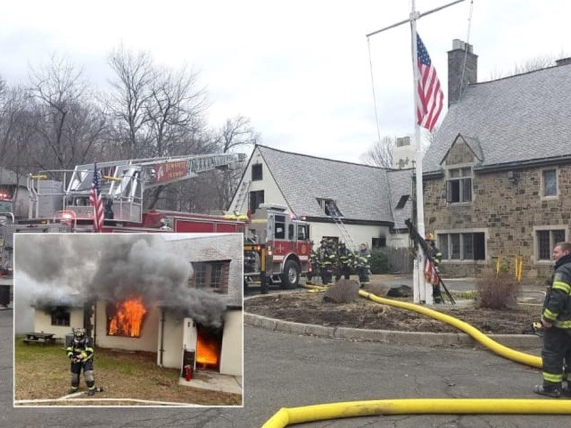 Fire at Police Headquarters